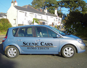Scenic Cars – Pelynt Our local family run taxi firm. 01503 220175